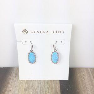Kendra Scott Lee ocean opal silver earrings